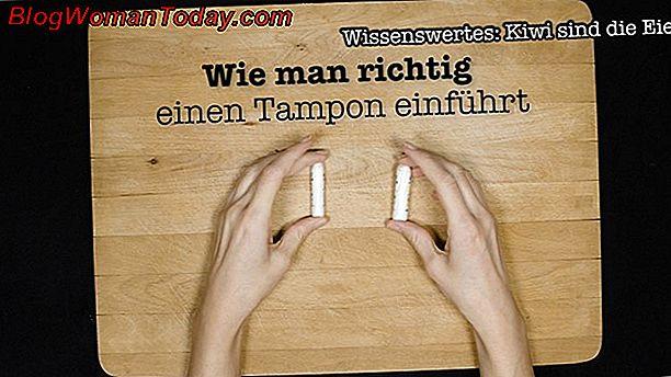 Wodka tampon einführen mit Tampon: Wie